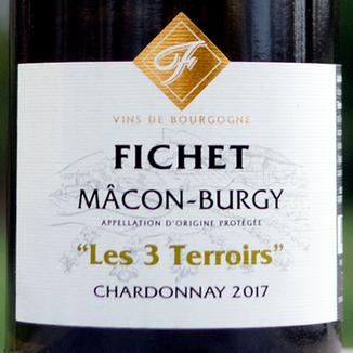 Domaine Fichet 2017 'Les 3 Terroirs' Mâcon-Burgy AOC 750ml Wine Label