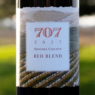 Chateau Diana 2017 '707' Sonoma County Red Blend 750ml Wine Label