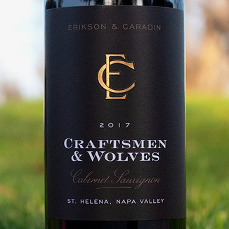 Erikson & Caradin 2017 'Craftsmen & Wolves' St. Helena Napa Valley Cabernet Sauvignon 750ml Wine Label