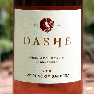 Dashe Cellars 2018 Heringer Vineyard Clarksburg Dry Rosé of Barbera 750ml Wine Label