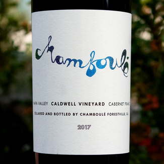 Chamboulé 2017 Caldwell Vineyard Coombsville Napa Valley Cabernet Franc 750ml Wine Label