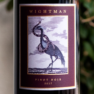 Wightman Cellars 2017 Sonoma County Pinot Noir 750ml Wine Label