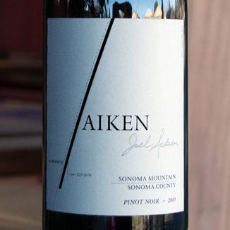 Aiken 2015 Silver Pines Vineyard Sonoma Mountain Pinot Noir 750ml Wine Label