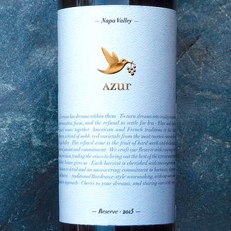 Azur Wines 2015 Reserve Napa Valley Cabernet Blend 750ml Wine Label