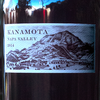 Kanamota 2014 Napa Valley Cabernet Sauvignon 750ml Wine Label