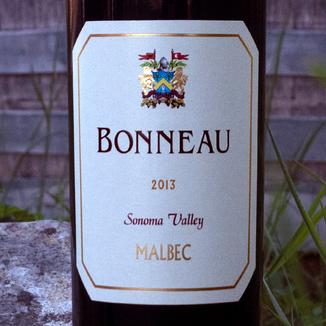 Bonneau Wines 2013 Sonoma Valley Malbec 750ml Wine Label