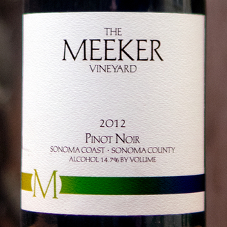 The Meeker Vineyard 2012 Sangiacomo Vineyard Sonoma Coast Pinot Noir 750ml Wine Label