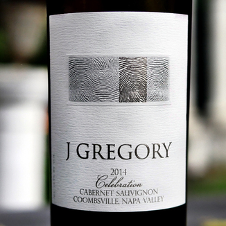 J Gregory Cellars 2014 'Celebration' Coombsville Napa Valley Cabernet Sauvignon 750ml Wine Label