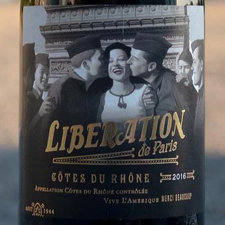 Badet Clément 2016 'Libération de Paris' Côtes du Rhônes AOC 750ml Wine Label