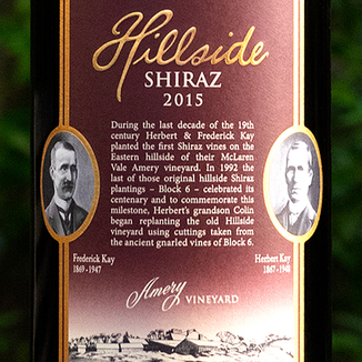 Kay Brothers 2015 Amery Vineyard Hillside McLaren Vale Shiraz 750ml Wine Label