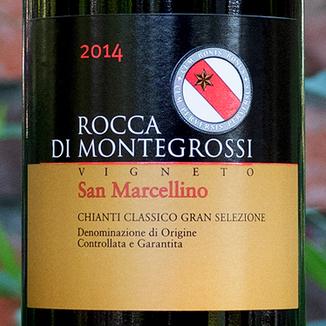 Rocca di Montegrossi 2014 'Vigneto San Marcellino' Chianti Classico Gran Selezione DOCG 750ml Wine Label