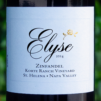 Elyse Winery 2014 'Korte Ranch' St. Helena Napa Valley Zinfandel 750ml Wine Label
