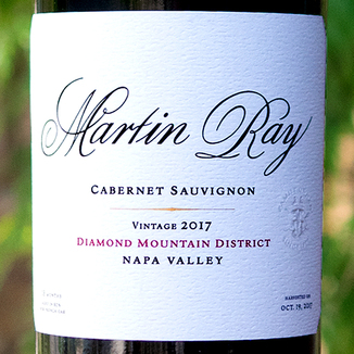 Martin Ray Winery 2017 Diamond Mountain District Cabernet Sauvignon 750ml Wine Label