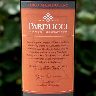 Parducci 2015 'Coro' Certified Mendocino Zinfandel Blend 750ml Wine Label