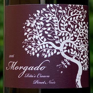 Morgado Cellars 2016 Rita's Crown Sta. Rita Hills Pinot Noir 750ml Wine Label
