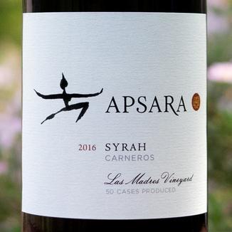 Apsara Cellars 2016 Las Madres Vineyard Carneros Syrah 750ml Wine Label