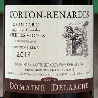 Domaine Marius Delarche 2018 Corton Renardes Vieilles Vignes Grand Cru 750ml Wine Label