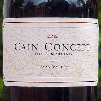 Cain Vineyard & Winery 2012 'Concept' The Benchland Napa Valley Cabernet Blend 750ml Wine Label
