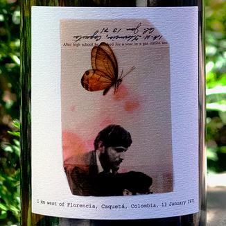 Eric Kent Wine Cellars 2017 '1 KM West' Sonoma Coast Chardonnay 750ml Wine Label