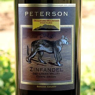 Peterson Winery 2014 Bradford Mountain Estate Vineyard Dry Creek Valley Zinfandel 750ml Wine Label