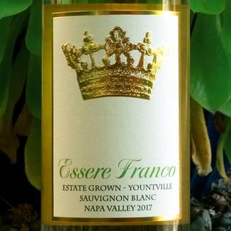 Essere Franco 2017 Yountville Napa Valley Estate Sauvignon Blanc 750ml Wine Label