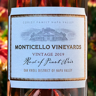 Corley Family 2019 Monticello Vineyards Napa Valley Rosé of Pinot Noir 750ml Wine Bottle