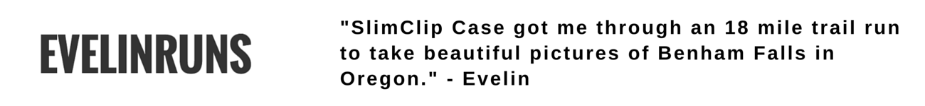 evelin runs on slimclip case for iphone the fitness running iphone case