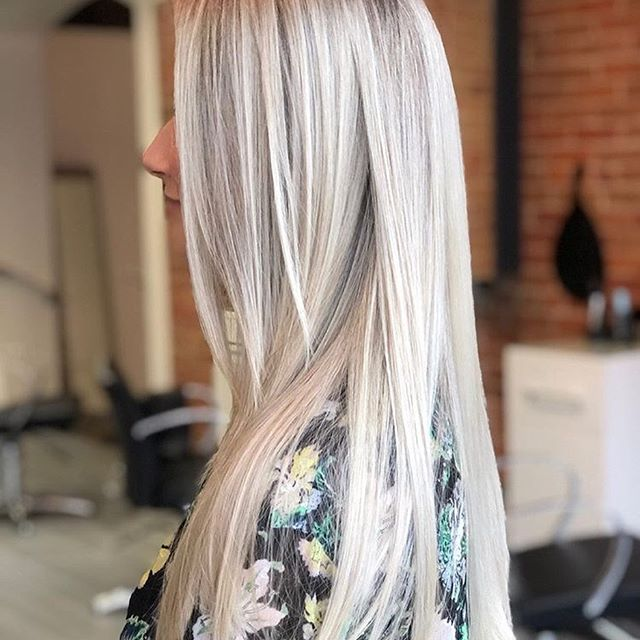 Icy blonde for this beauty ️ done by the talented @charlenejanehair  • • • • #avedasalon #avedacolor #aveda #kingstonbeauty #kingstonhairsalon #kingstonhairstylist #kingstonhair #ygk #ygkbeauty #downtownkingston #blondehair #highlights #longlayers #platniumblonde #queensu #davines #avedastylist