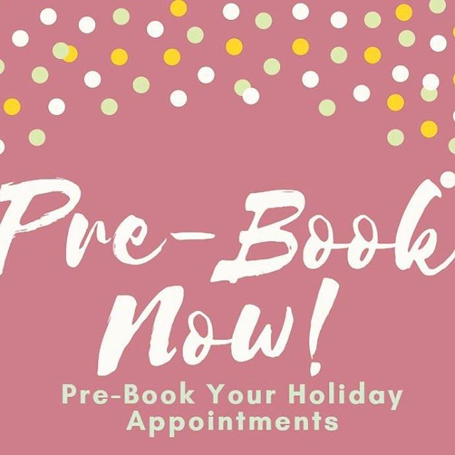 The time is now!! Holiday time is quickly approaching and spots are being filled! Book your hair appointments soon, we can't wait to see you!!