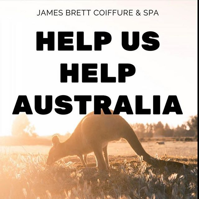 At James Brett we have staff with family and friends living in N.S.W, a region of Australia devastated by this years wildfires. As a team we have been deeply moved to help support the rescue and rehabilitation of Australia's wildlife. This month we are raffling off product and service packages and the James Brett team will be hosting a Cut-a-thon event in support at both locations: Saturday February 29th 2-5pm. We will be offering $25 Haircuts and Shampoo Blowdrys with all proceeds going to Animals Australia and IFAW, the International Fund for Animal Welfare. Please keep an eye out for more details on how you can help us help Australia! . . . . #helpaustralia #bushfiresaustralia #australiaisburning #wildliferelief #australianwildlife #wildliferescue  #rescueandrehabilitation #endangeredspecies #savetheanimals #dosomething #donatenow #ygkfundraisinginitiative #kingstoncares #kingston_on #charity #cut-a-thon #ygkstylist #giveback #animallovers #wild #nature #floraandfauna #biodiversity #preservation #protect #conservation #makeanimpact #showyoursupport #theworldwelivein  #aussieaussieaussie