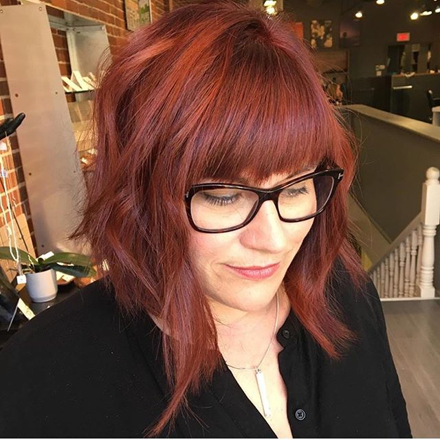 We are obsessed with this red hot hair by @lyndseynadonhair️ • • • #aveda #avedacanada #avedahair #avedasalon #kingstonhair #kingstonhairsalon #kingstonhairstylist #downtownkingston #kingstonontario #ygk #ygkhair #queensuniversity #slc #rmc