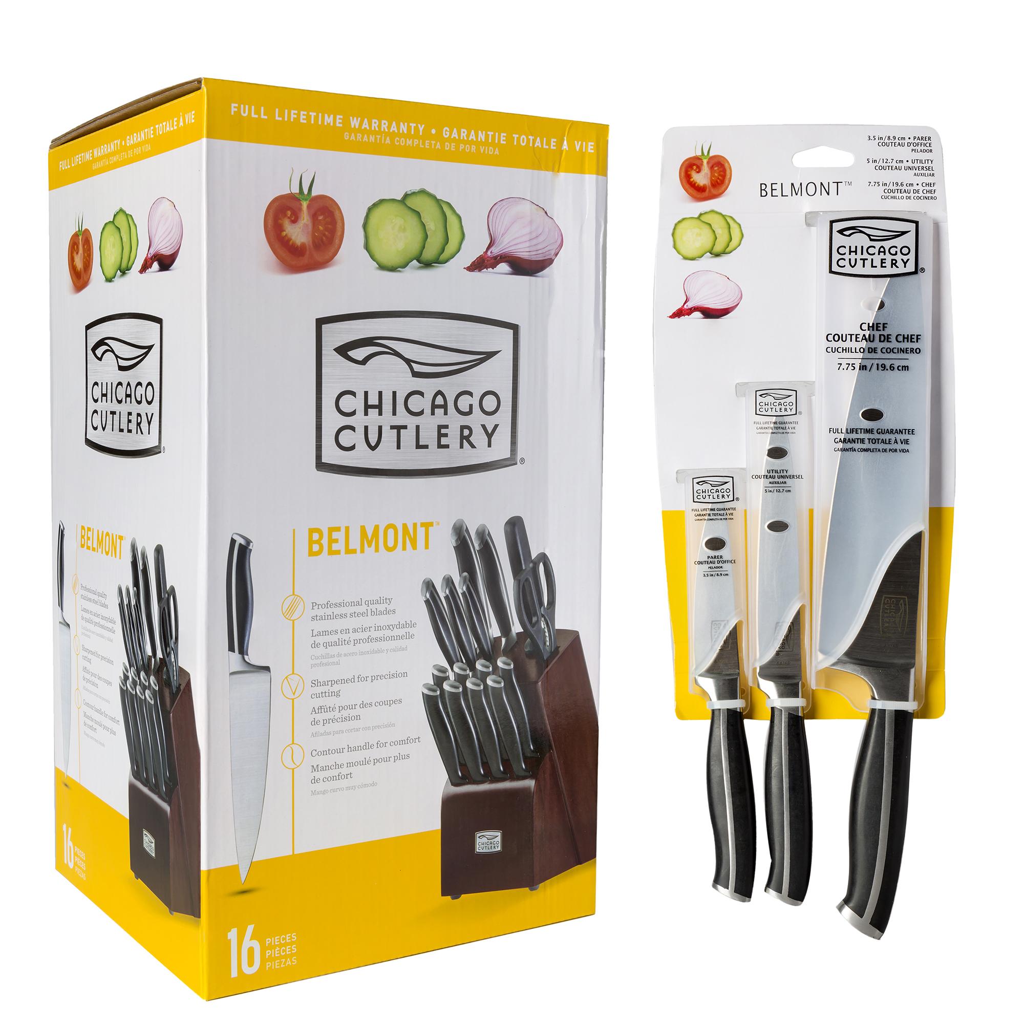 Chicago Cutlery Belmont Knife Block Set