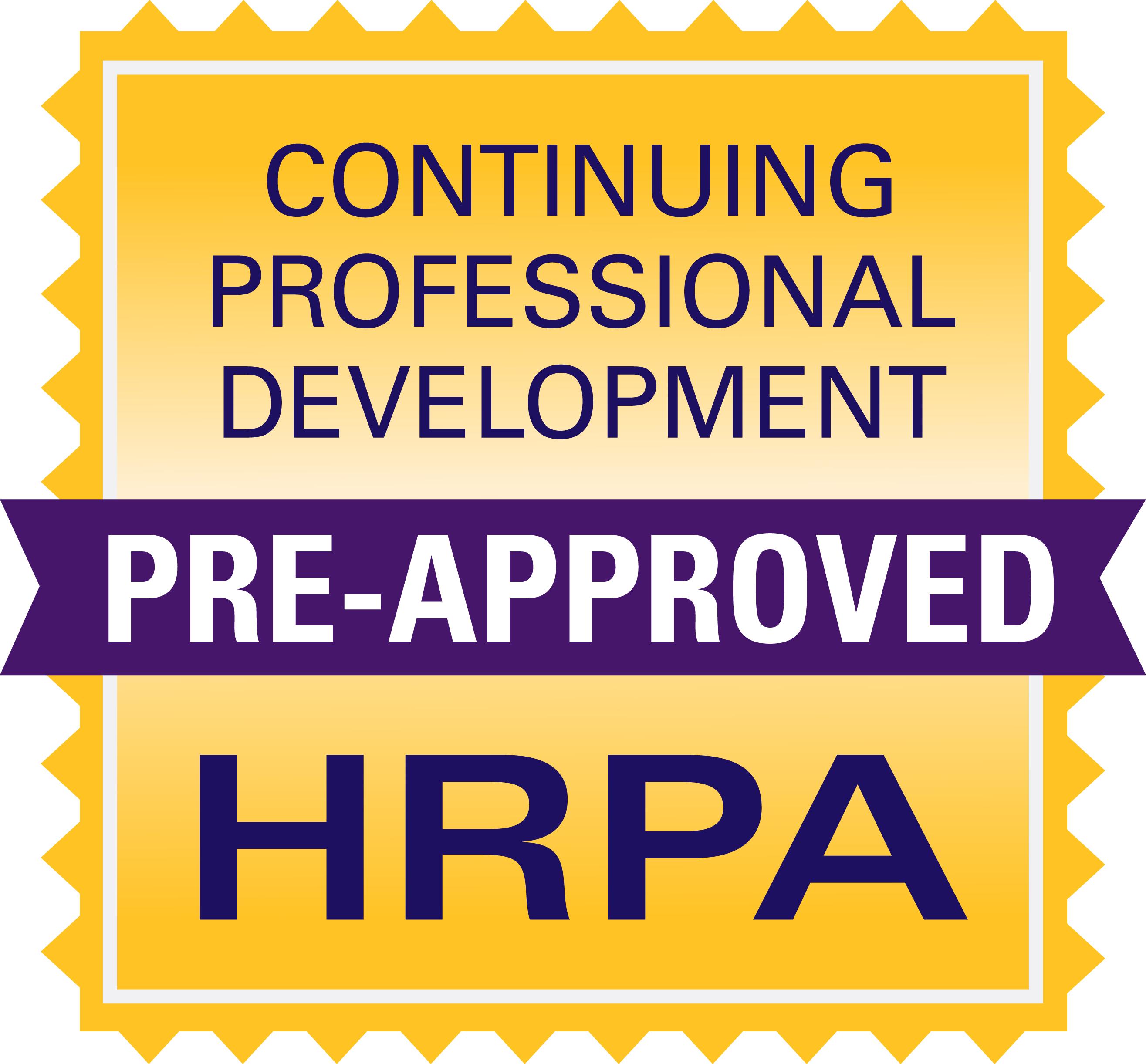 HRPA certified CPD