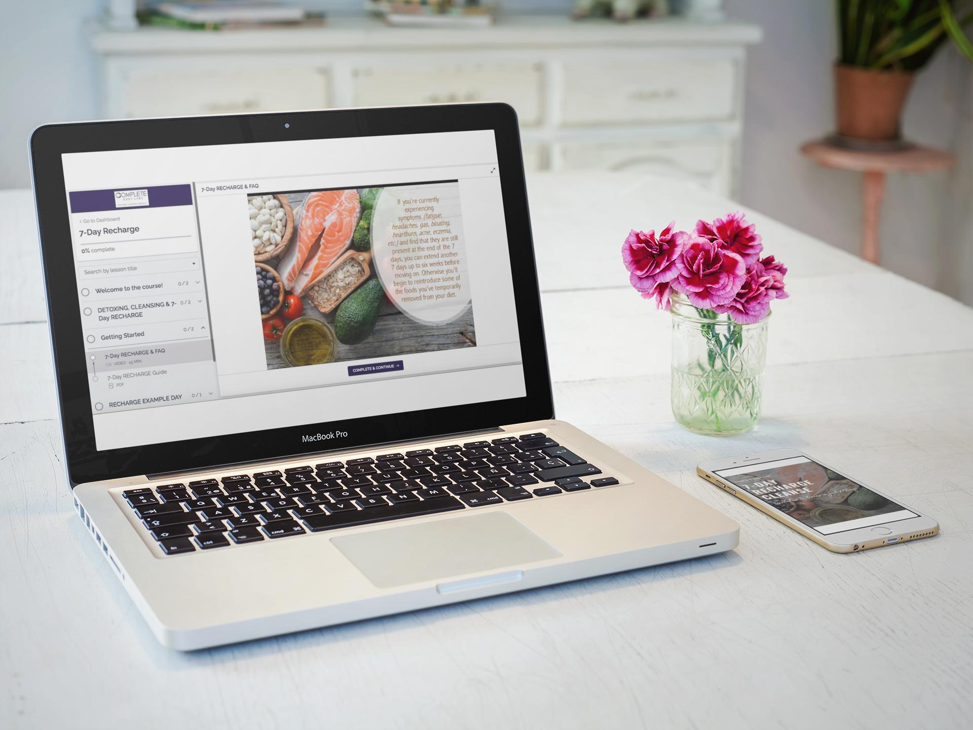 Laptop of Webinar Screen