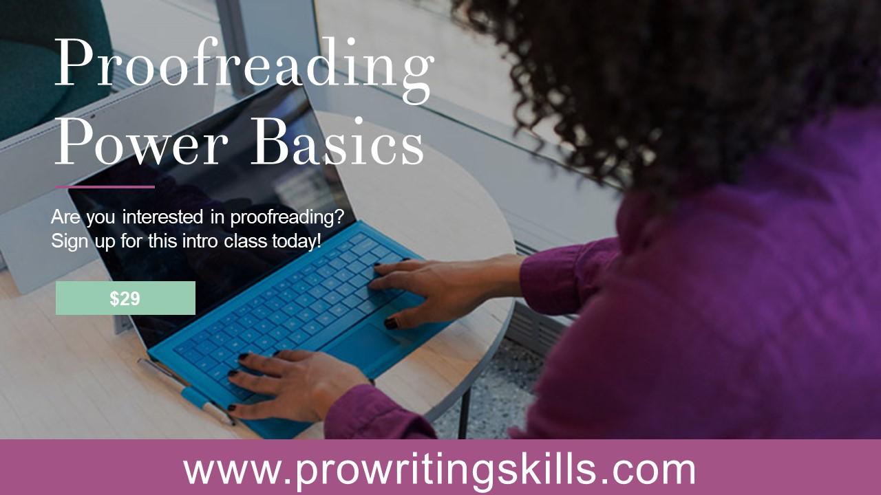 proofreading basics online class