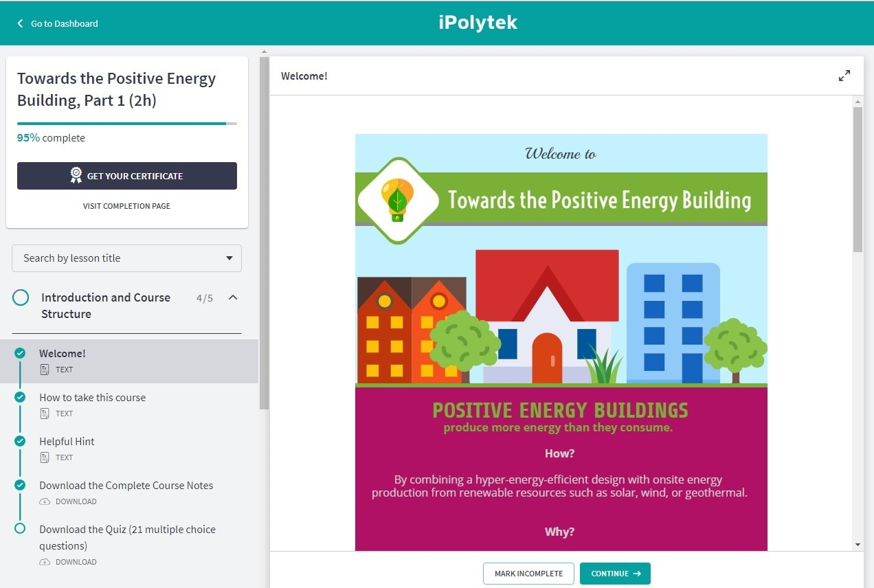 Positive energy Building Course Preview