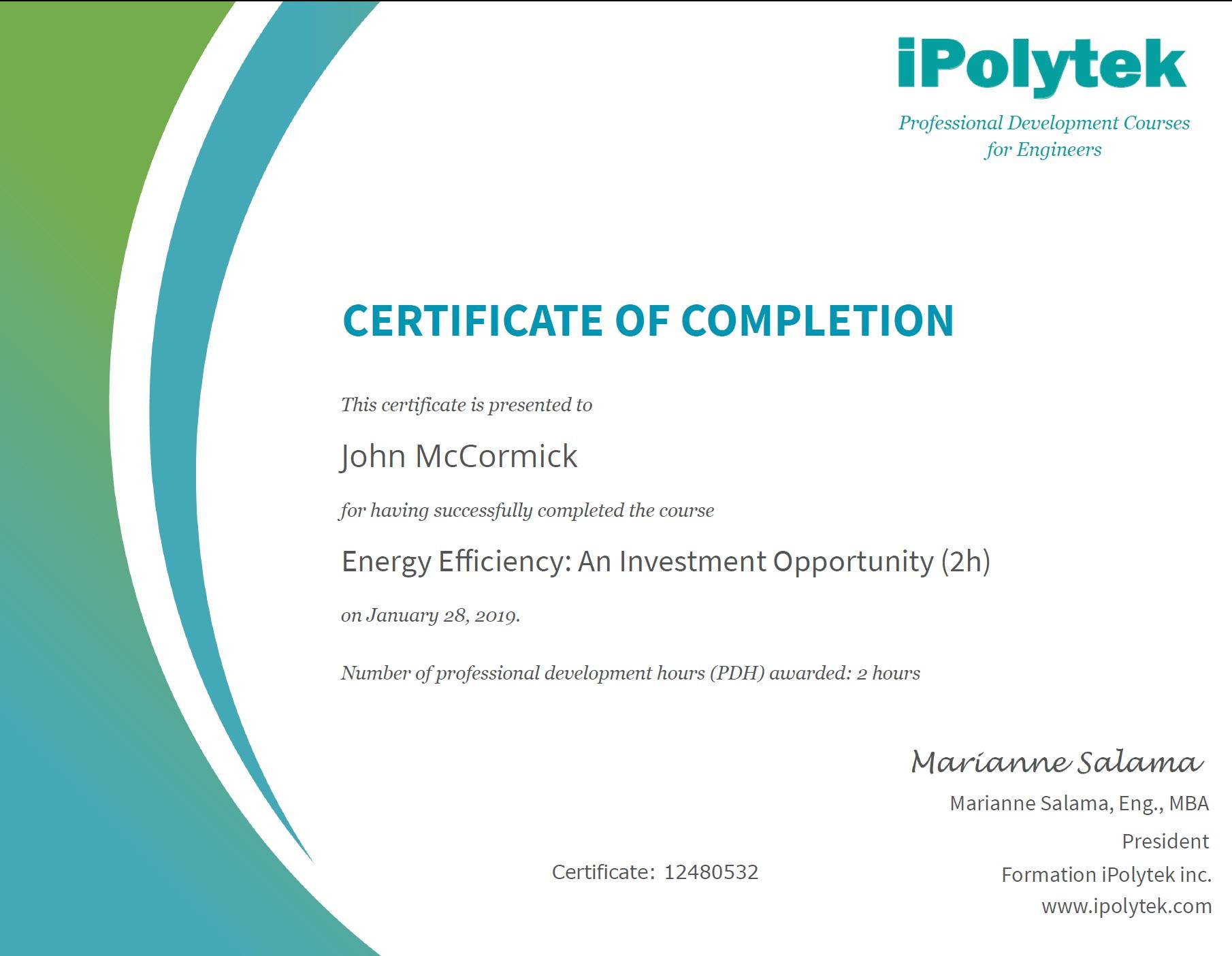 Get your Professional Development Certificate