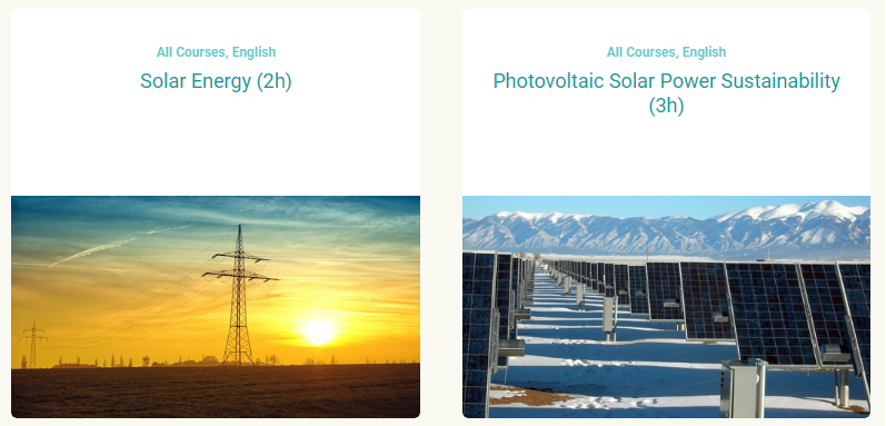 Solar Energy Online Course for Engineers