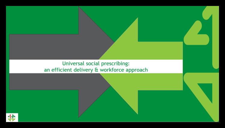Embedding social prescribing