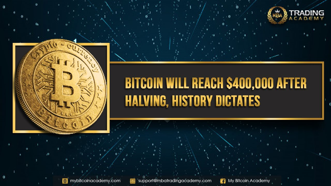 Bitcoin Will Reach $400,000 After Halving