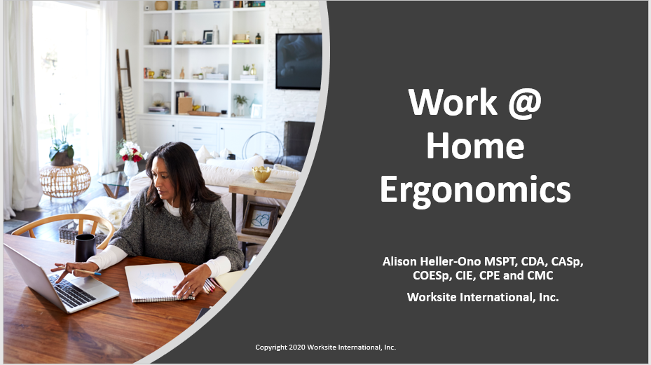 work@home ergonomics