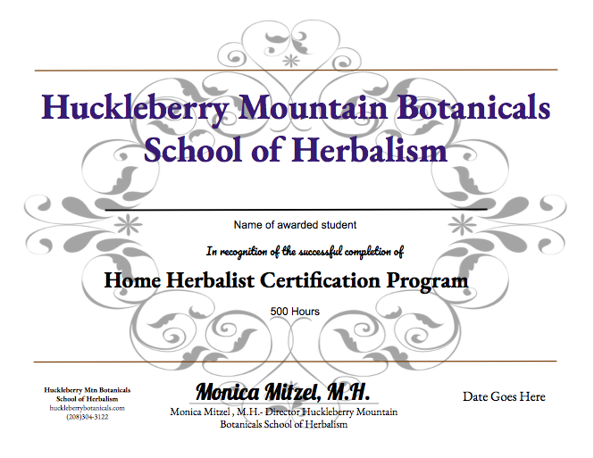 When you complete the program, you receive a certificate