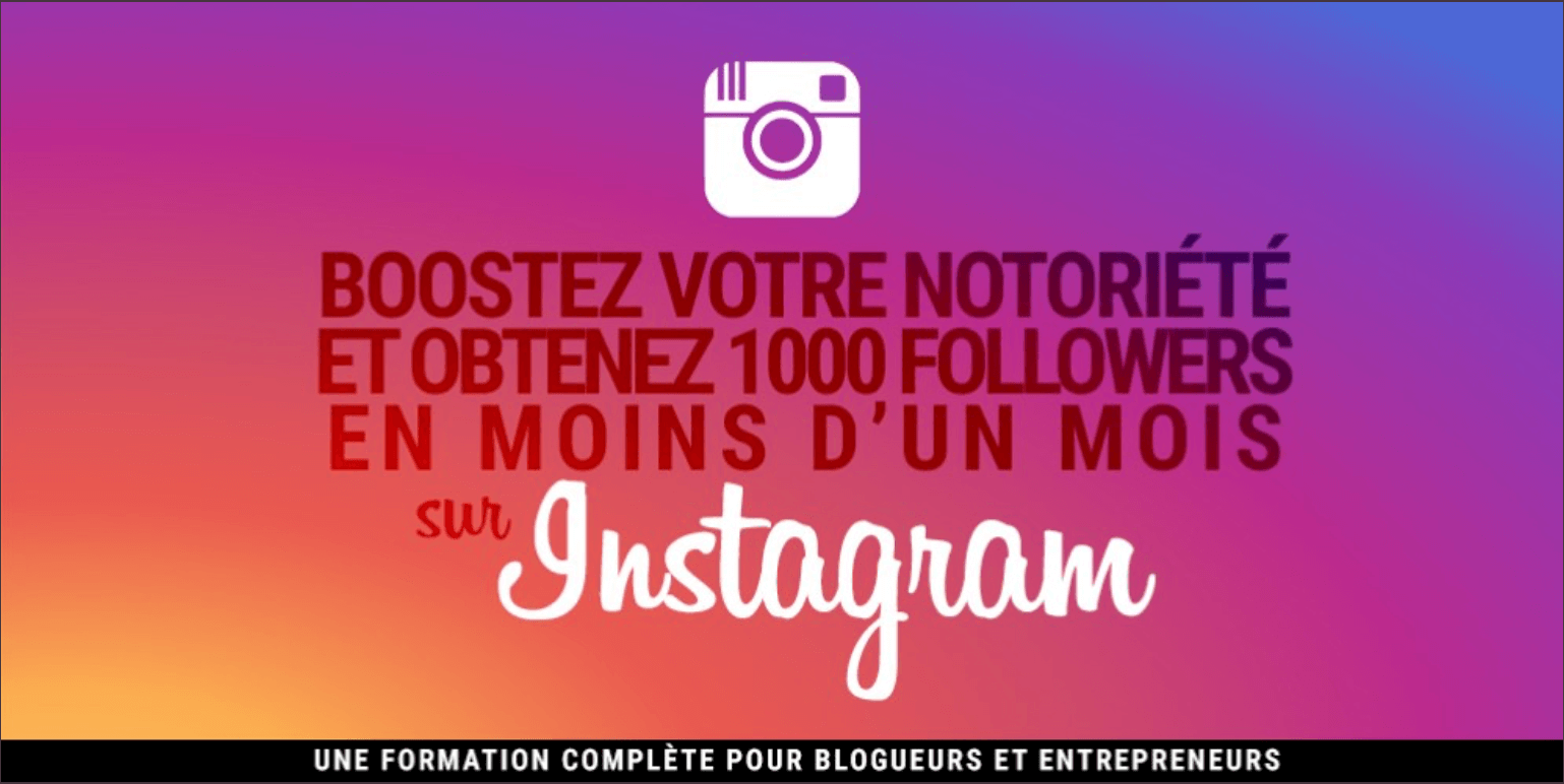 1000 followers sur Instagram en 1 mois