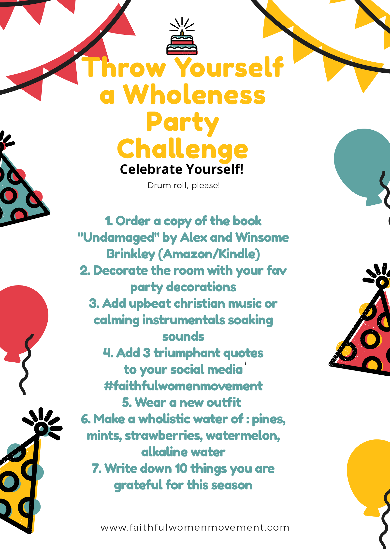 Throw Yourself a Wholeness Party Challenge