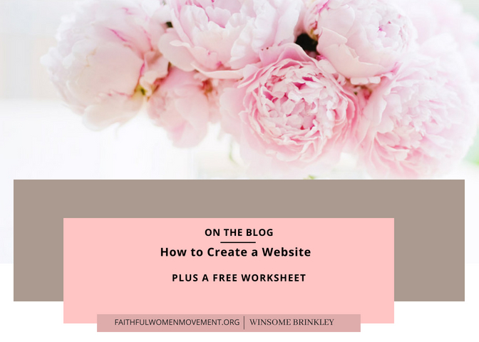 How to Create A Website (Blog Resources)