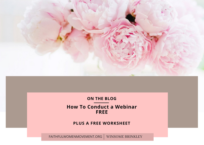 How To Conduct a Webinar FREE