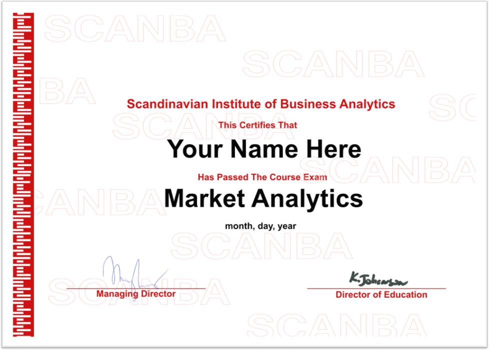 SCANBA Certificate