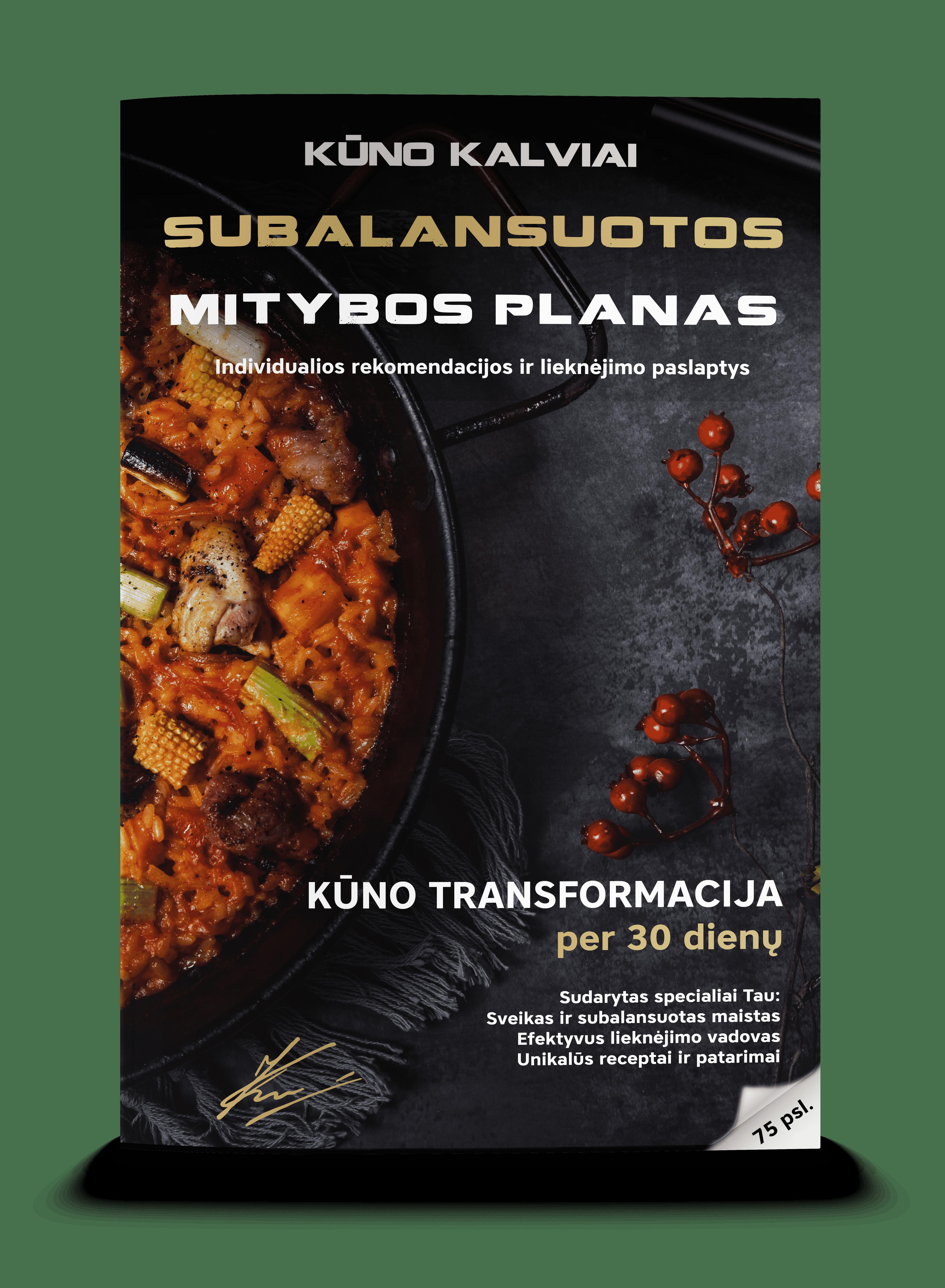 Subalansuotos mitybos planas