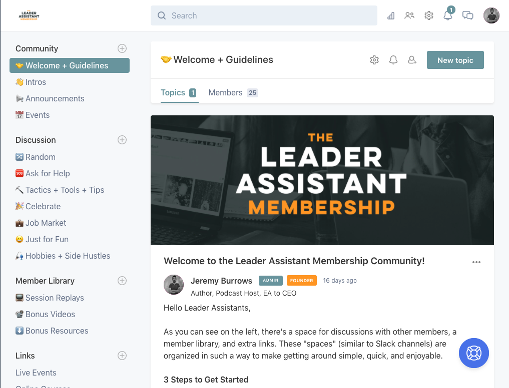 Leader Assistant Circle Membership