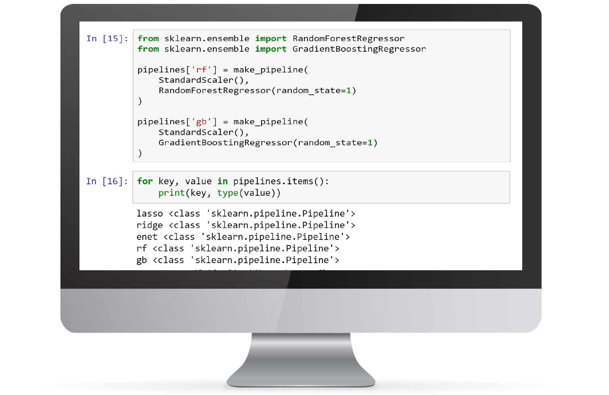 Screen with python